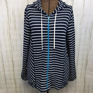 TOMMY BAHAMA Zip Front Hoodie Jacket Large